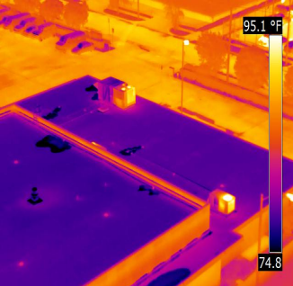 Infrared scan of roof