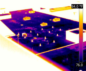 Infrared scan of commercial roof